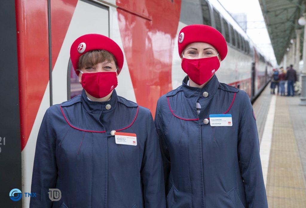Двухэтажный поезд Москва – Смоленск, собранный в Твери, отправился в первый рейс