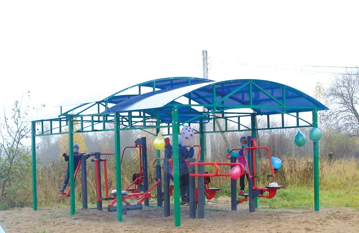 Спорткомплексы и детские площадки установили в Тверской области по программе поддержки местных инициатив