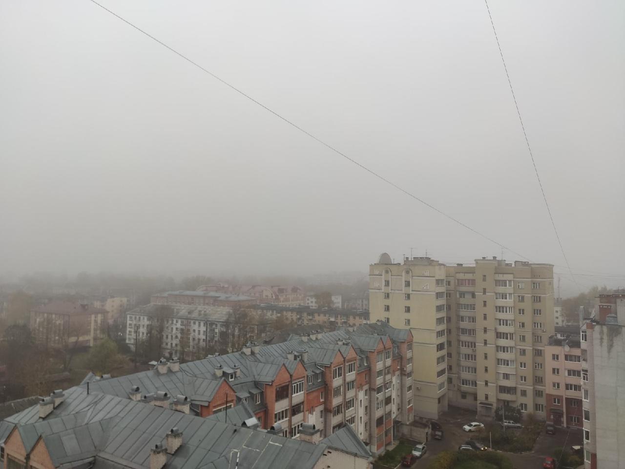 Второй день подряд Тверскую область накрывает густой туман