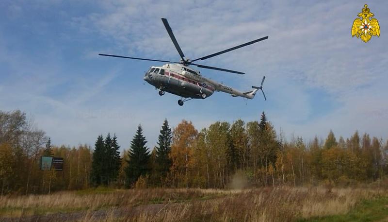 Двое мужчин экстренно доставлены в Тверь вертолетом санавиации