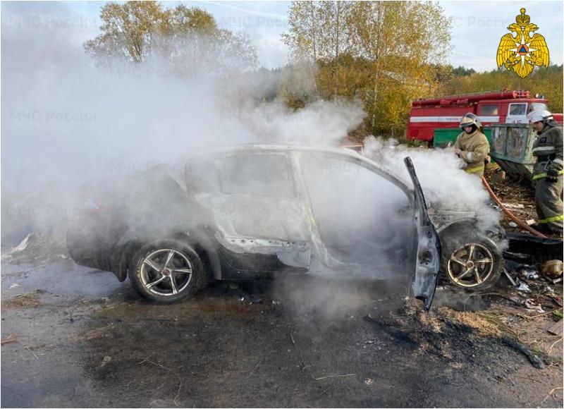 Огненное ДТП: в Тверской области иномарка вспыхнула после столкновения с мусоровозом