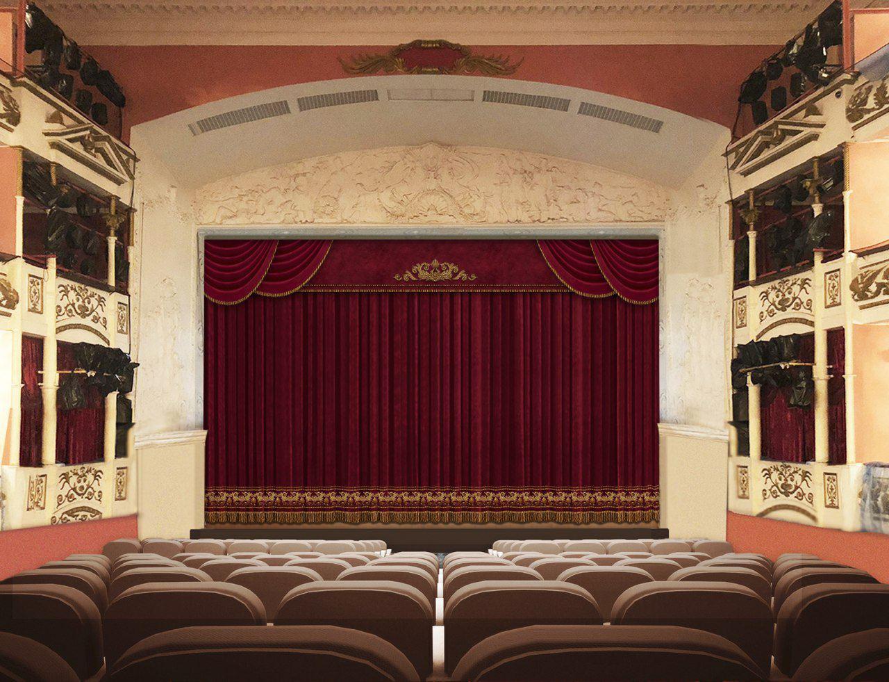 В Тверском театре драмы появился новый занавес