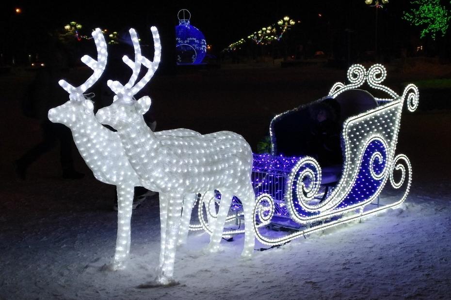 В Лихославльском районе к новому году купят светящихся оленей с чудесными санями