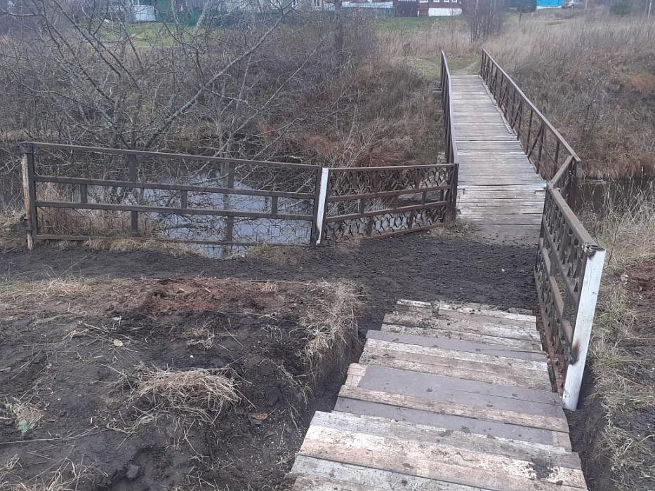 В Тверской области благоустроили подход к пешеходному мосту