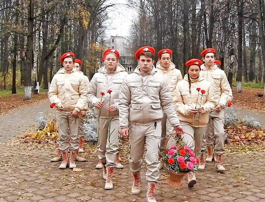 Юнармейцы из Калязина приняли участие в акции «Вперед, к Победе!»