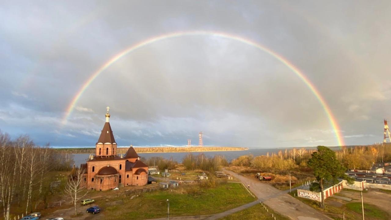 В небе над Тверской областью появилась двойная радуга