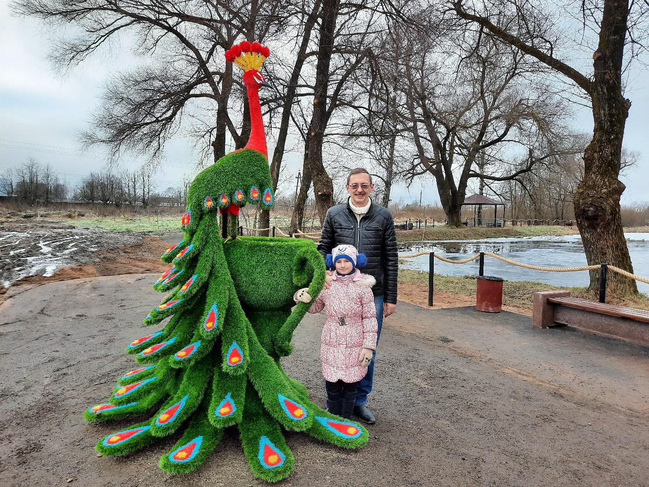 В Оленинском районе Тверской области установили новый арт-объект