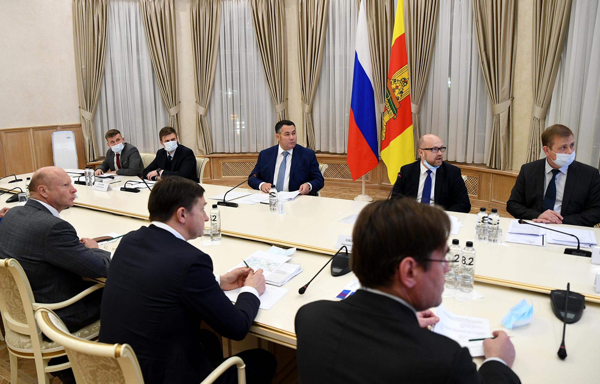 Игорь Руденя и Сергей Бачин обсудили развитие инвестиционного проекта «Волжское море»