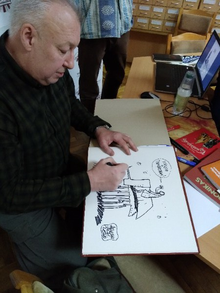 Московский художник встретился с тверскими любителями комиксов