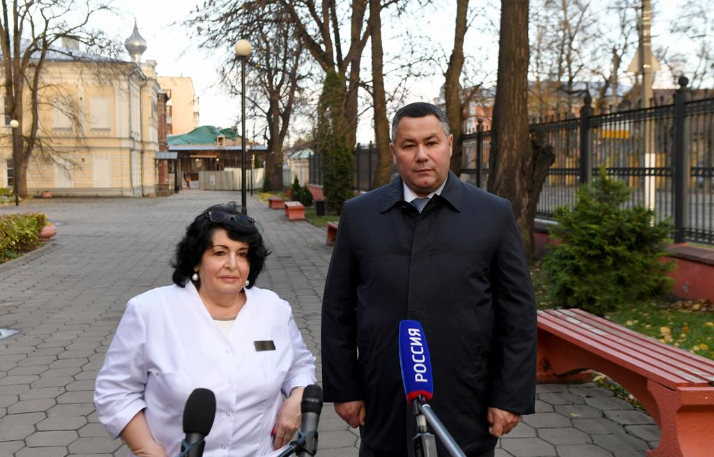 Губернатор проверил подготовку нового центра амбулаторной онкологической помощи в Твери