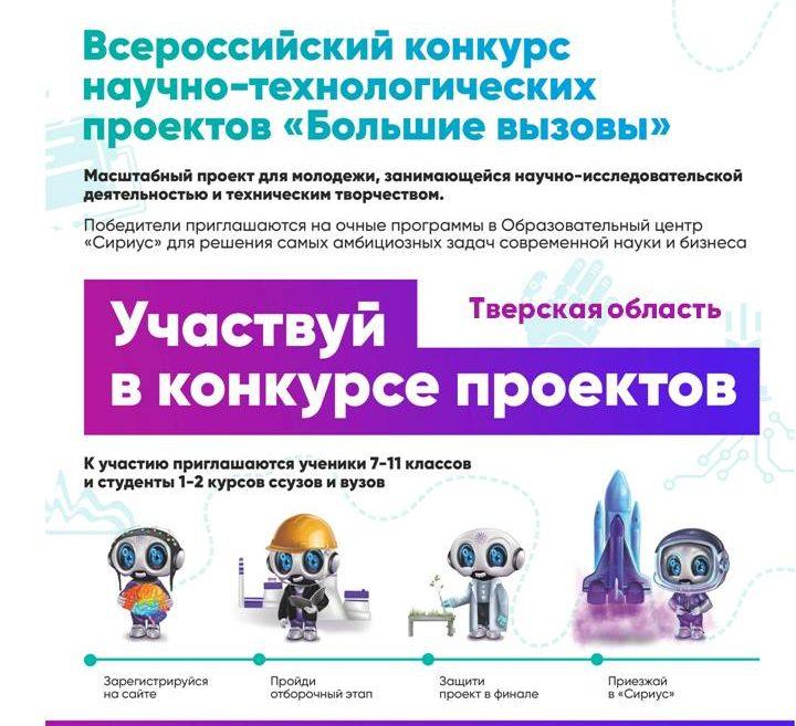 Открыта регистрация для школьников и студентов Тверской области на всероссийский конкурс