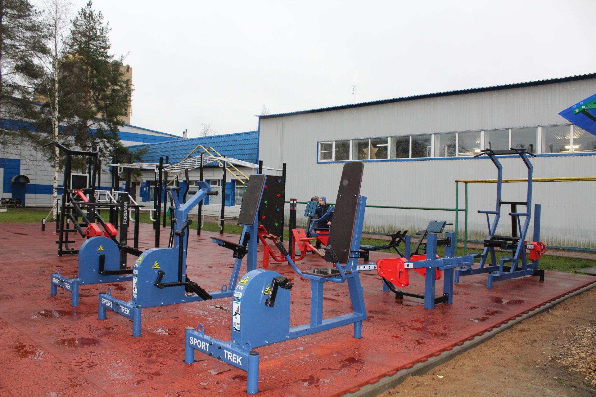 В Нелидово открыли три новых спортплощадки