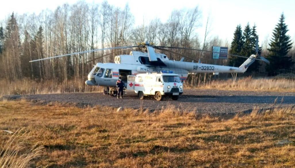 Пациента из Бежецка экстренно доставили в Тверь на вертолете