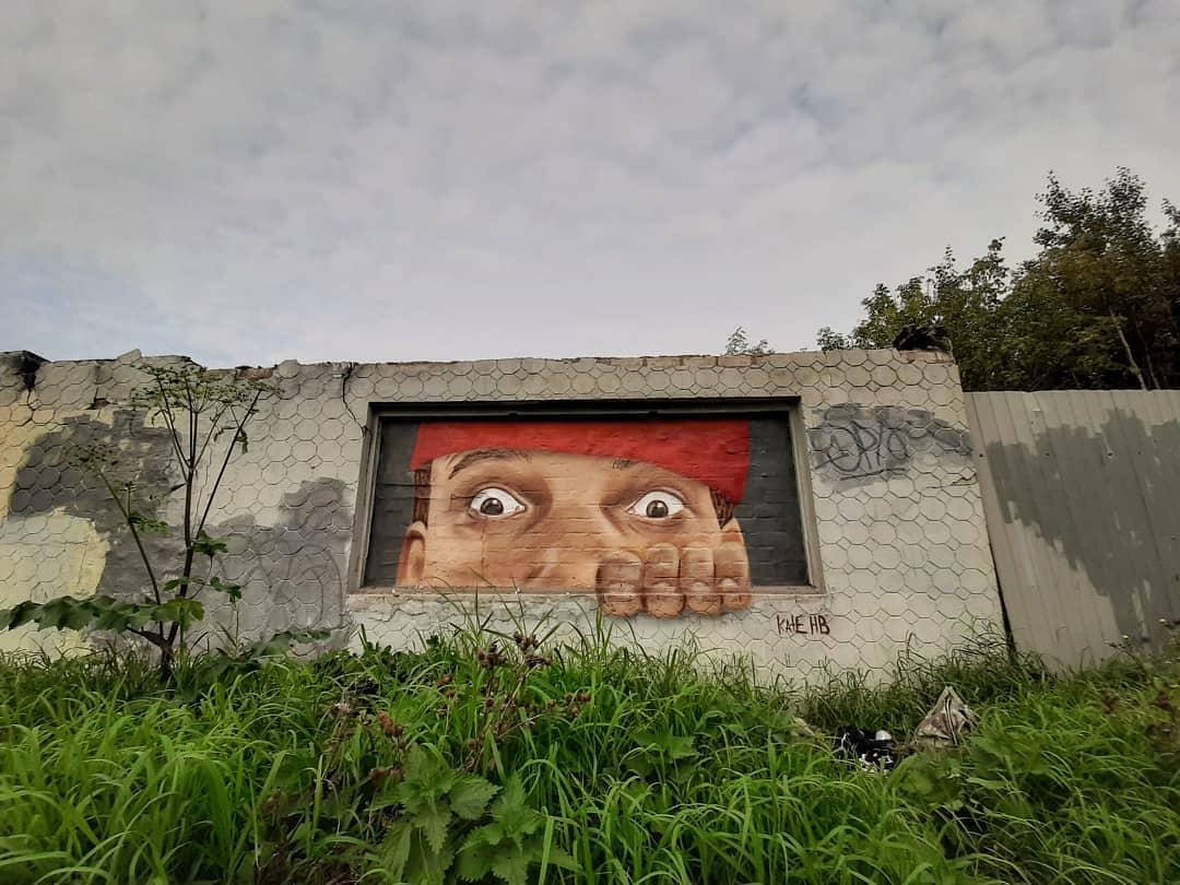 Появились новые граффити от тверской художницы Катерины Крутиловой