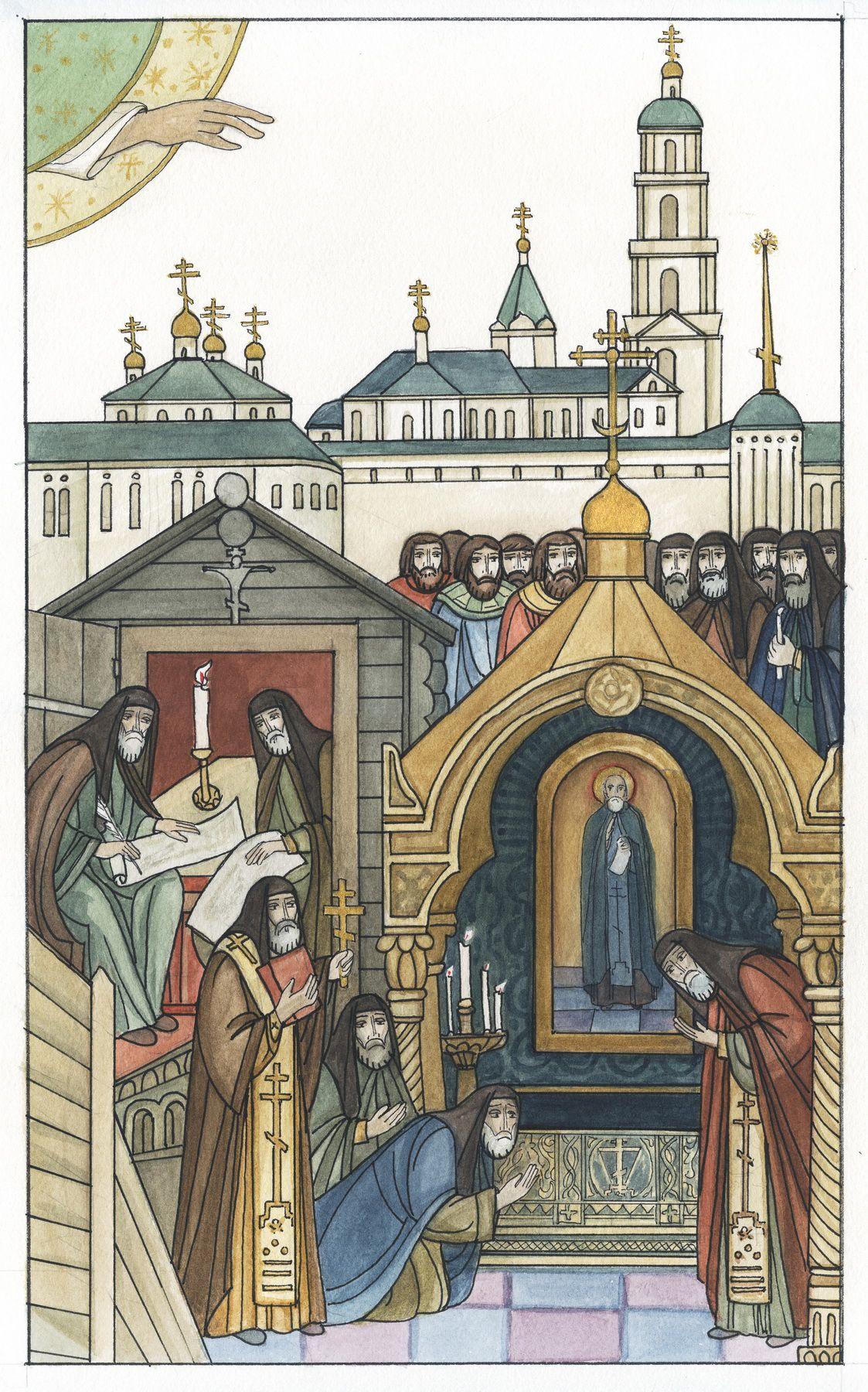 Тверская художница создала серию миниатюр о Макарии Калязинском