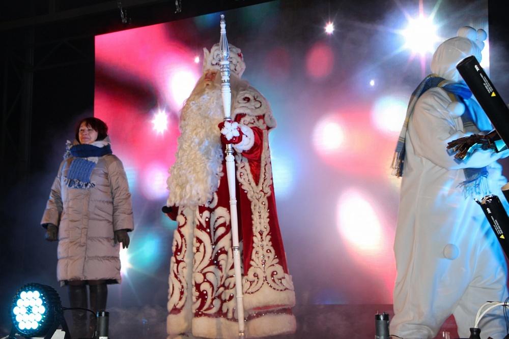 В Тверской области Дед Мороз зажег огни на елке в парке