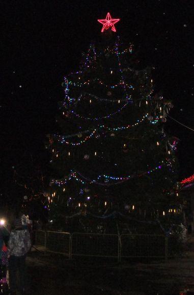 На главной площади в Торопце зажгли новогоднюю ёлку