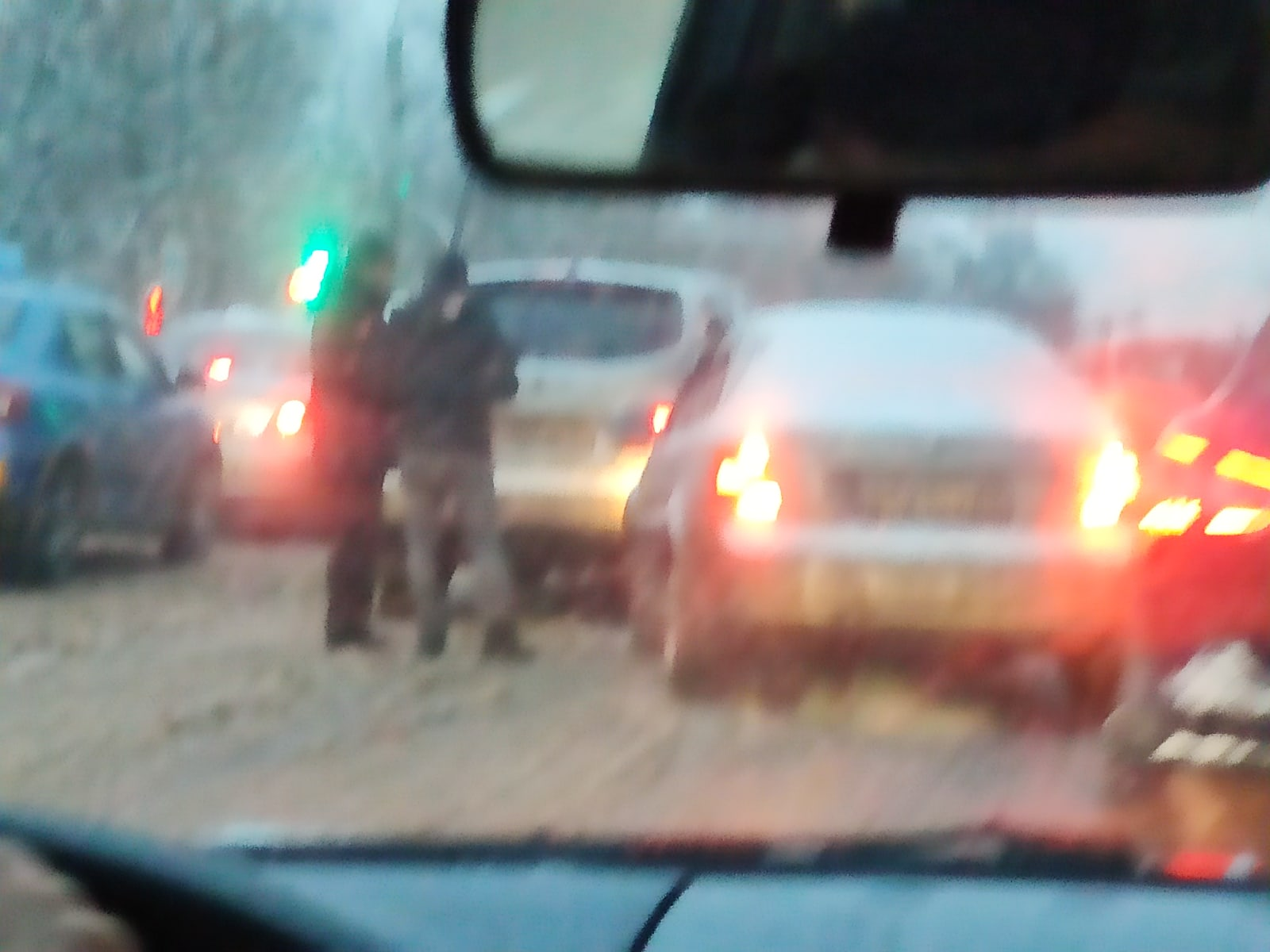 Утром 15 декабря центр Твери и ближнее Заволжье встали в пробках