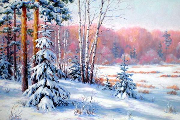 В Твери Николай Дулько научит рисовать зимний пейзаж с нуля