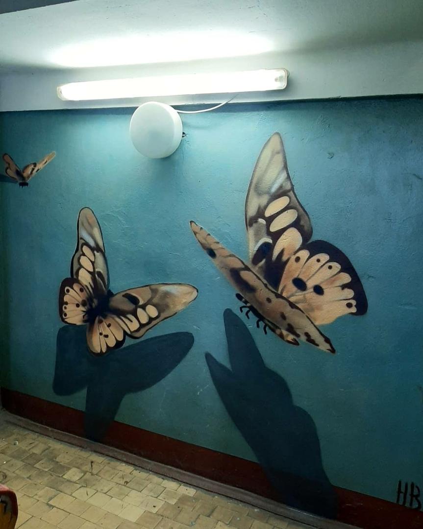 3D-бабочки: в Твери появилось новое красивое граффити
