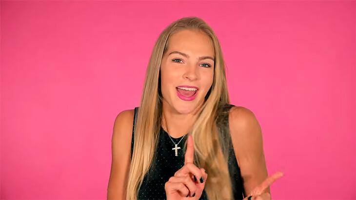 Тверская легкоатлетка Дарья Клишина представила собственную песню