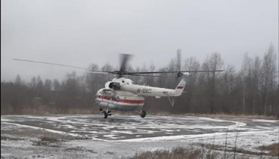 Помощь крылатой «скорой» потребовалась жителю Калязинского района