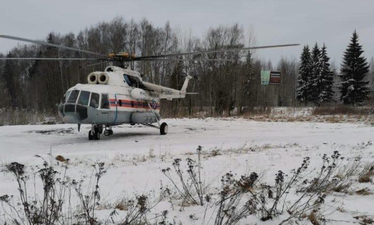 Тяжелобольного мужчину эвакуировали в Тверь на вертолете санавиации