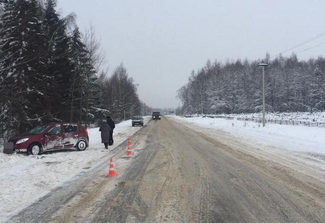 В Тверской области пенсионер на иномарке вылетел в кювет