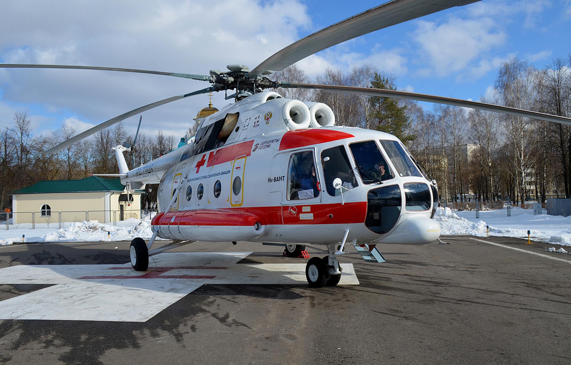 211 пациентов спасено в Тверской области вертолётами санавиации в 2020 году