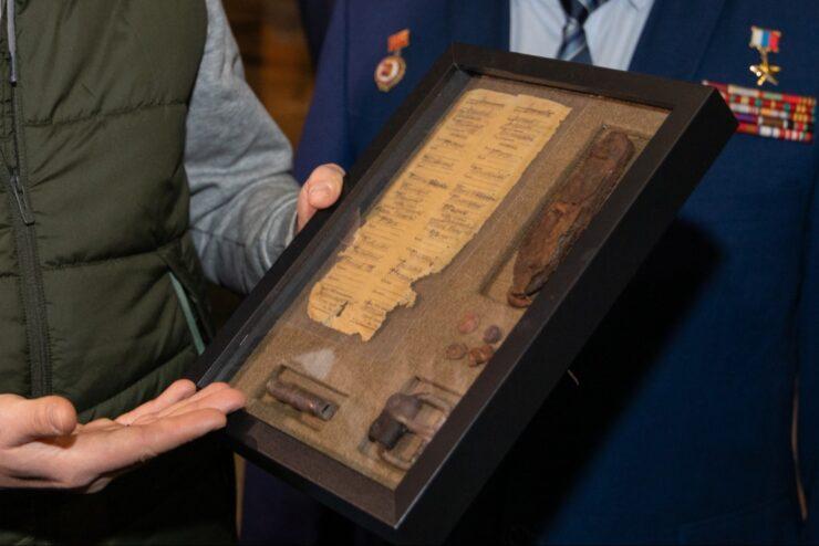 В Музее Победы передали останки красноармейца на родину в Тверской области