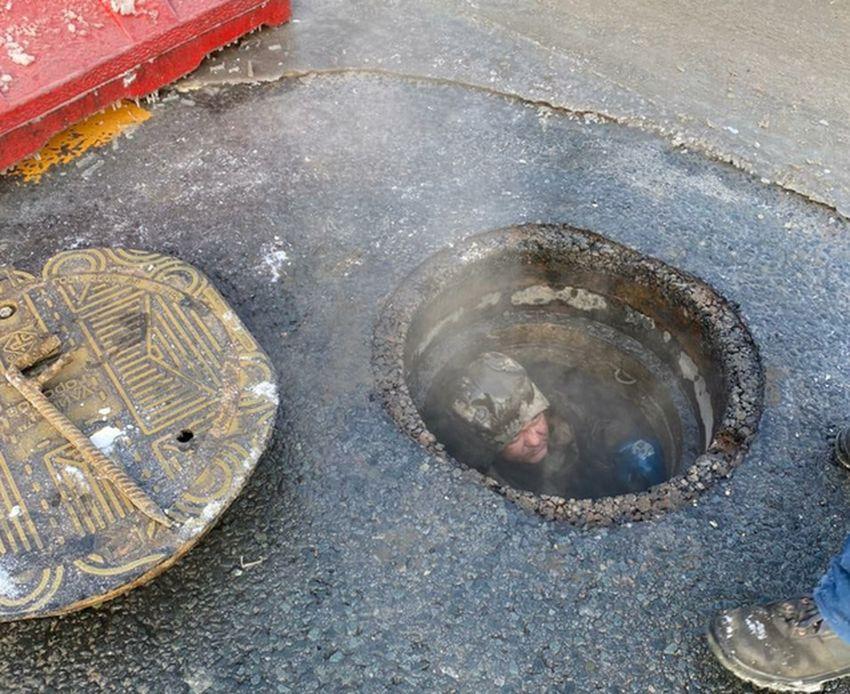 В Твери восстановили теплотрассу, из которой бил фонтан
