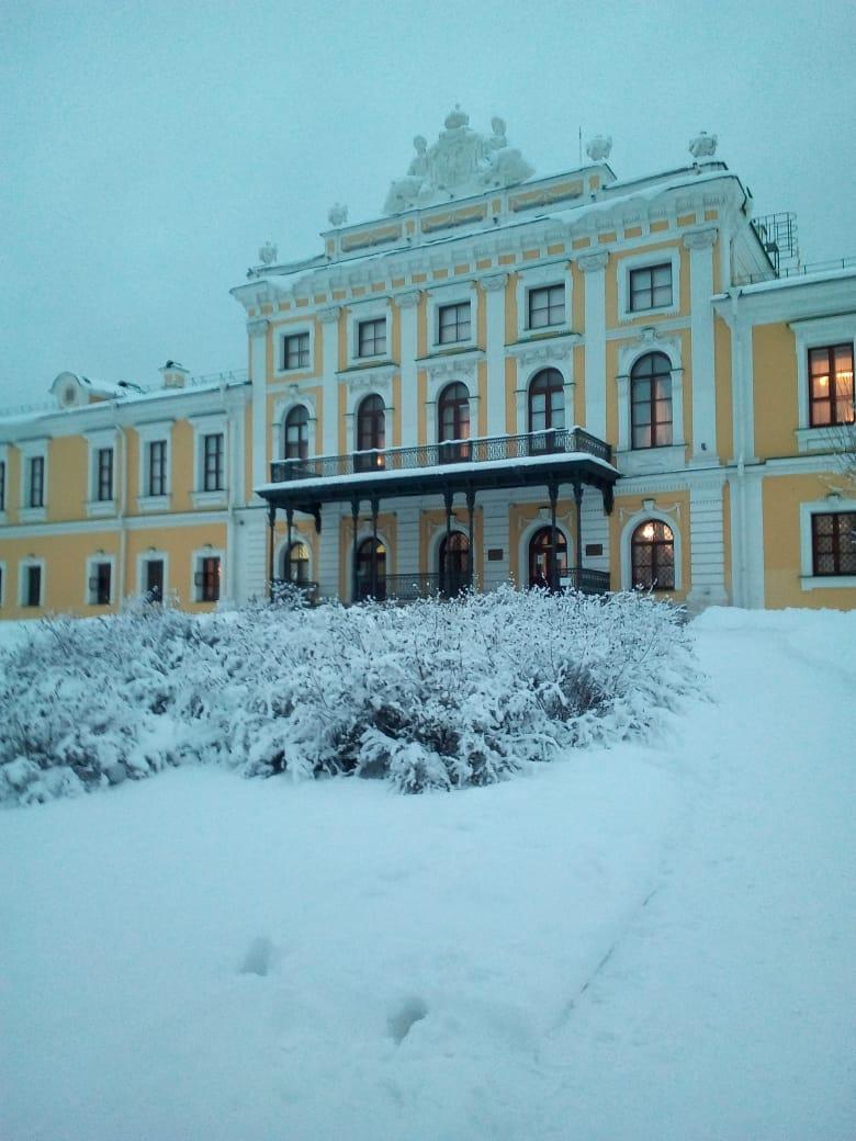 Тверская картинная галерея поделилась фото заснеженного Императорского дворца