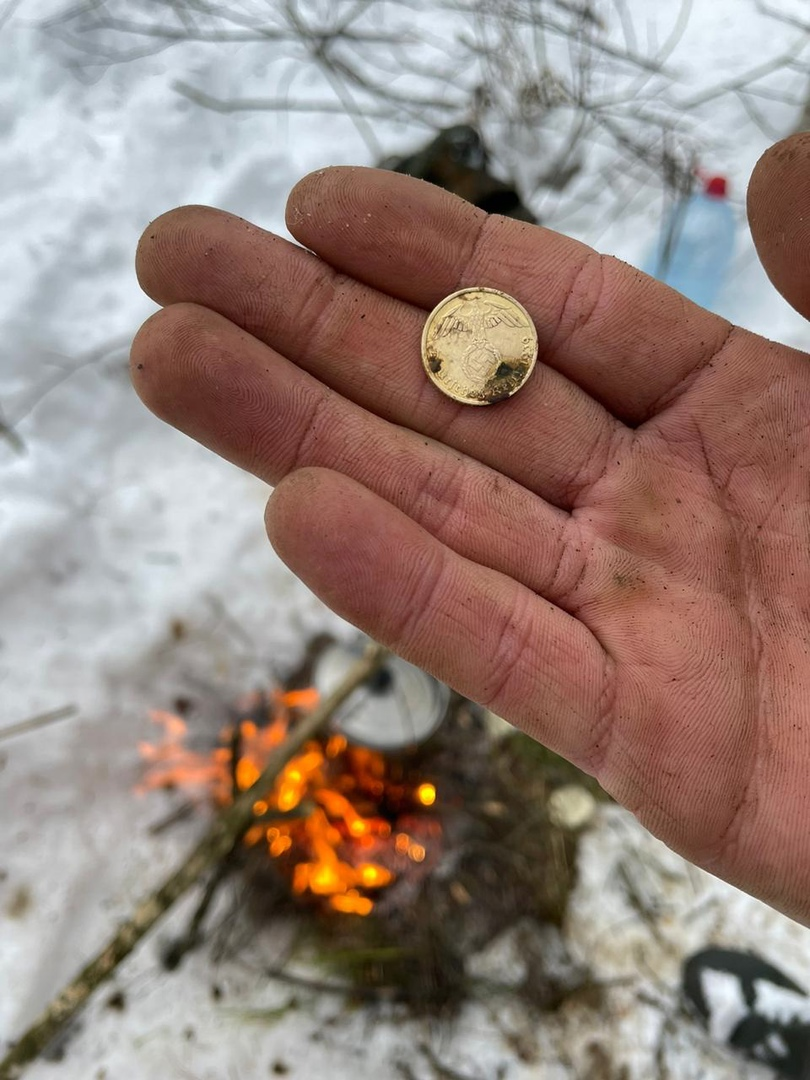 Немецкая монета и останки солдат найдены на месте миномётного обстрела в Тверской области