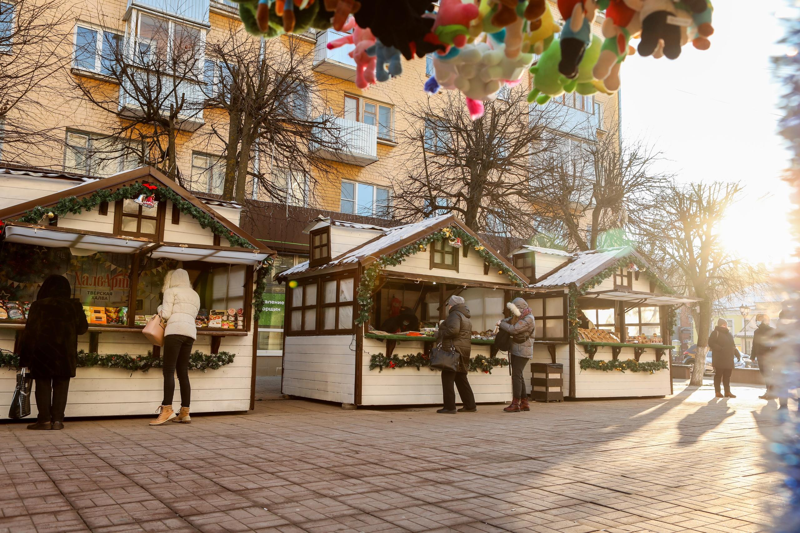 В Твери продолжает работу Рождественская ярмарка