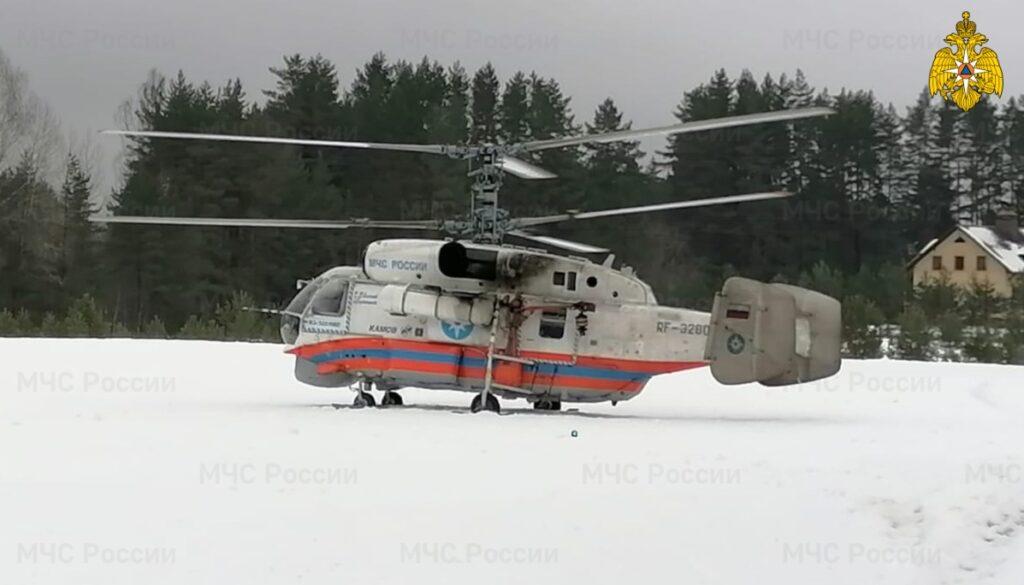 В Тверской области санитарный вертолёт прилетел на помощь пациенту из ЦРБ по Ржевскому району