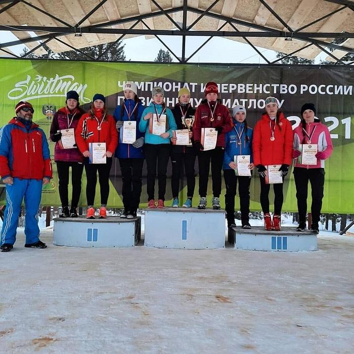 Спортсменки из Конаково завоевали бронзу в эстафете по зимнему триатлону