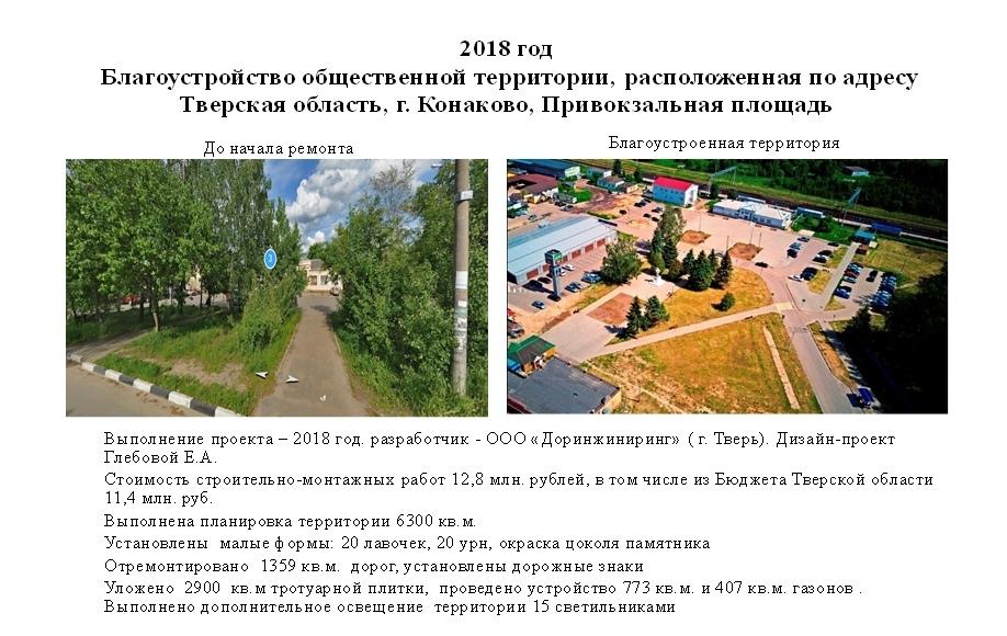 Жителям города Конакова предлагают оценить проекты благоустройства города