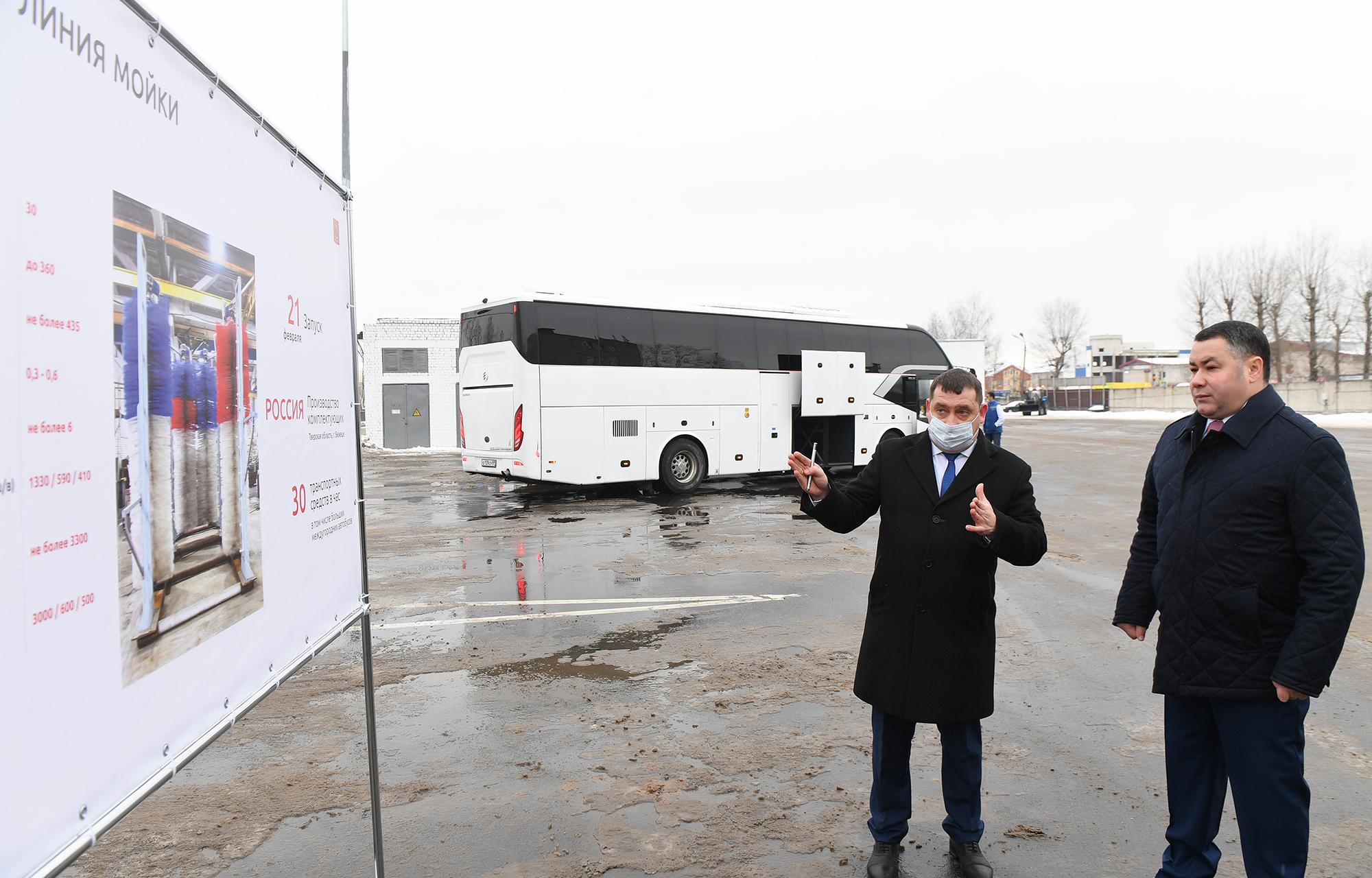 Первый год работы «Транспорта Верхневолжья»: губернатор Игорь Руденя обсудил развитие пассажирских перевозок с коллективом автобусного парка