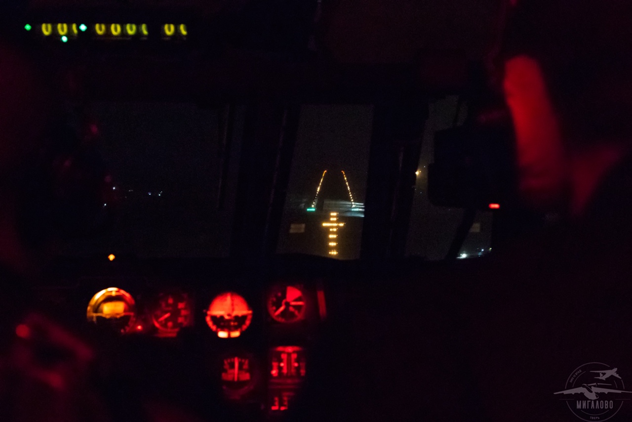 Как выглядит ночная Тверь из кабины пилота