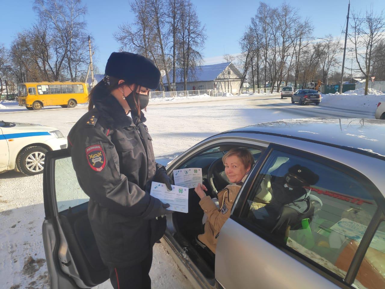 Автоинспекторы напомнили жителям Лихославльского района о ПДД
