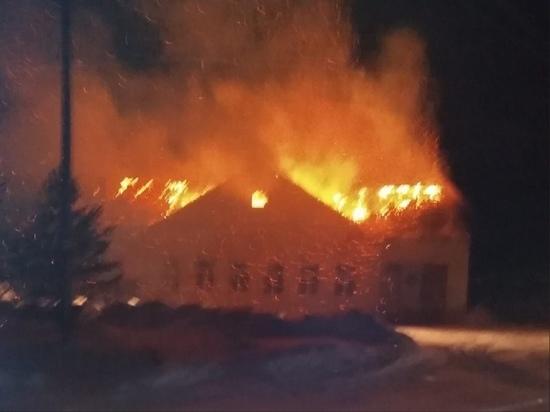 В Оленинском округе восстановят сгоревшую общественную баню