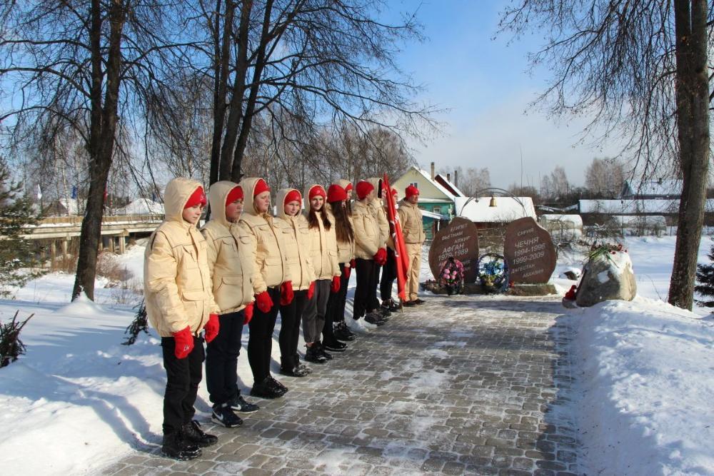 В Жарковском районе прошел митинг у Памятника воинам-интернационалистам