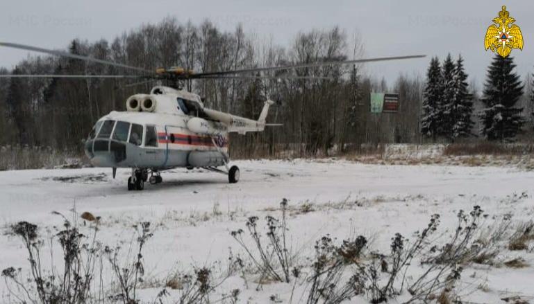 Белый вертолёт санавиации бережно доставил в Тверь очередного пациента