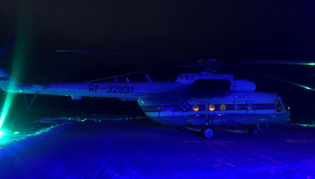 В полночь вертолет санавиации доставил в Тверь пациента в тяжелом состоянии