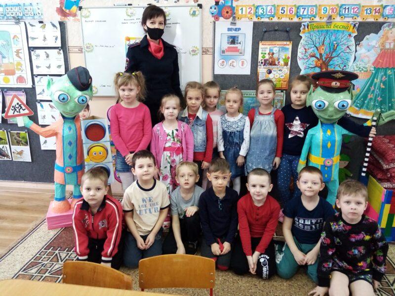 В Нелидово провели занятия по ПДД для дошкольников