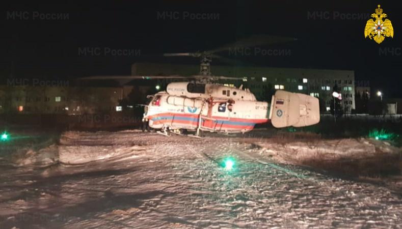 Вертолет санавиации экстренно доставил пациента Осташковской ЦРБ в Тверь