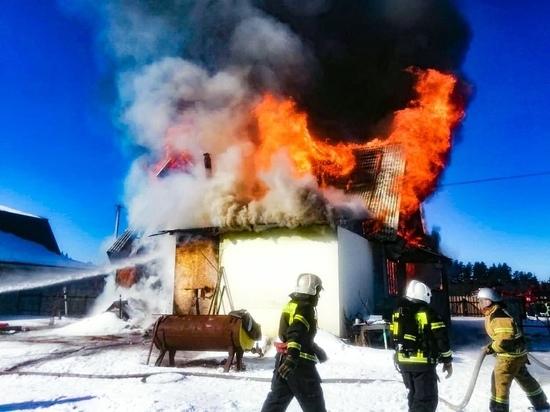 В Удомельском городском округе сгорел дом