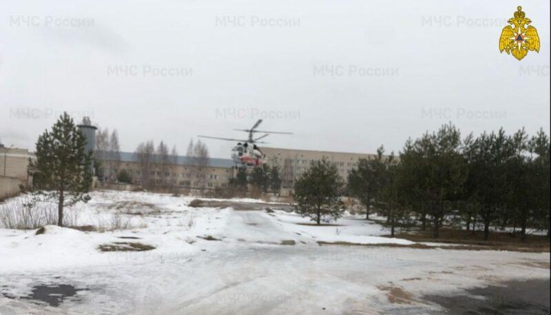 Вертолет санавиации доставил пациента из Удомли в ОКБ Твери