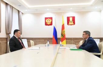Игорь Руденя встретился с главой Бежецкого района для обсуждения автомобильных дорог муниципалитета