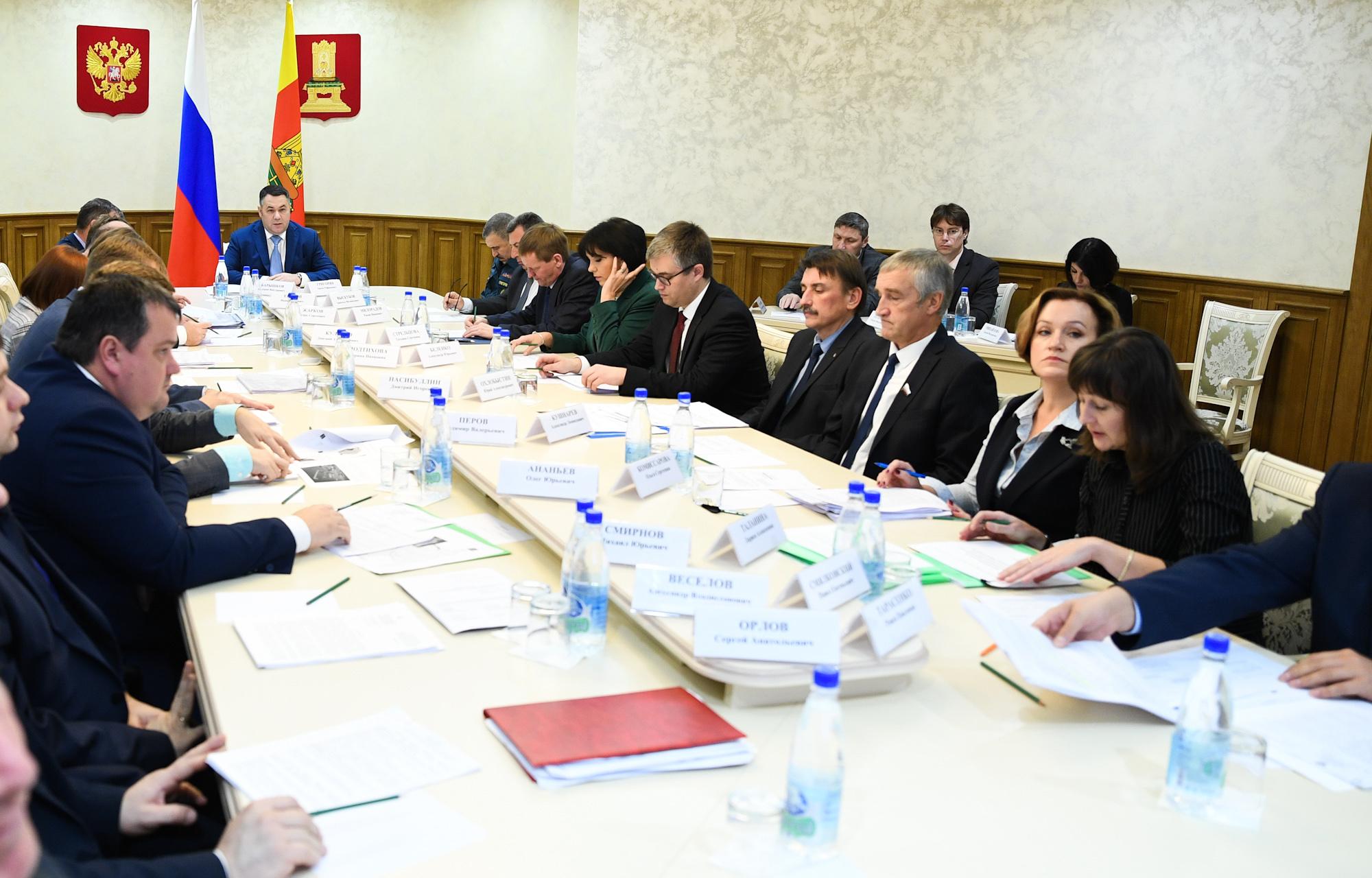 На заседании Правительства Тверской области обсудят проекты развития общественных и деловых пространств Верхневолжья